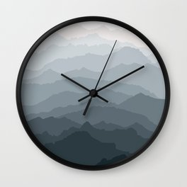 Silver Dew Mountains Wall Clock