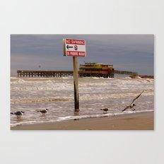 Se Prohibe Nadar Canvas Print