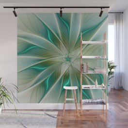 Floral Lights, Abstract Fractal Art Wall Mural