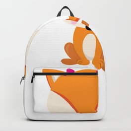 Kids Valentine Girl Fox with Pink Bows Backpack