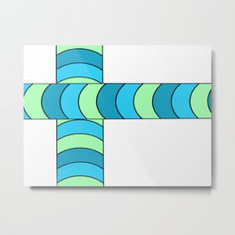 Blunt, in blue and green Metal Print