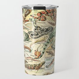 Reptiles II by Adolphe Millot // XL 19th Century Snakes Lizards Alligators Science Textbook Artwork Travel Mug