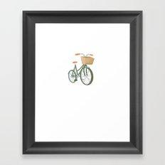 Bike with Basket Framed Art Print