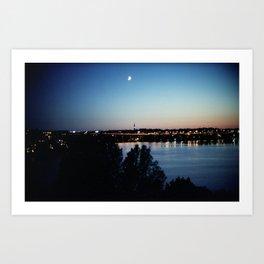 Stockholm Midnight Sun Art Print