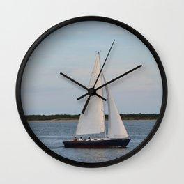 Nantucket Sail boat Wall Clock