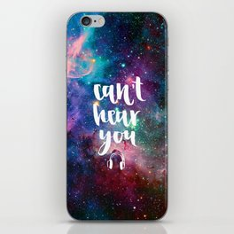 Galaxy Calligraphy iPhone Skin