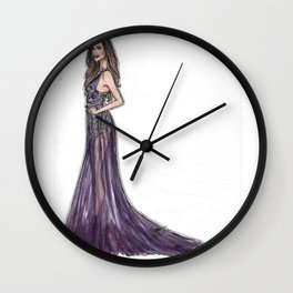 Purple Night Wall Clock