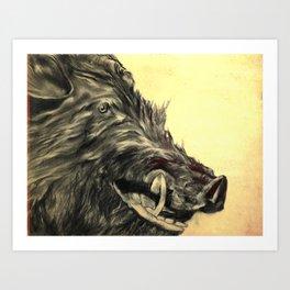 Orville the Amazing Boar Art Print