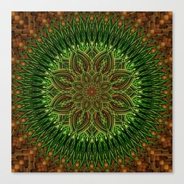 Earth Flower Mandala Canvas Print