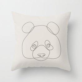 One Line Panda Throw Pillow