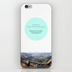 Dear Past, Dear Future iPhone & iPod Skin