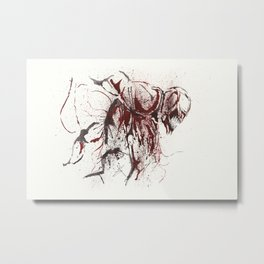 Carnage - Splatter Artwork Metal Print