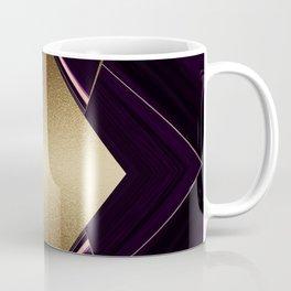Rich Gold and Purple Accent Diamond Pattern Coffee Mug