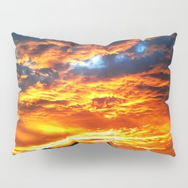 Fantastic Sunset, blue and orange sky Pillow Sham