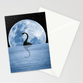 Nessie Starry Night - Loch Ness Monster Stationery Cards