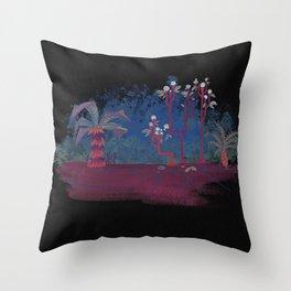 Gouache Dream Plants Throw Pillow