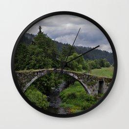 Mossy Bridge Wall Clock