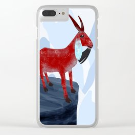 Mountain Goat Design Clear iPhone Case