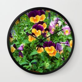 Petunias in a Pot Wall Clock