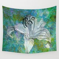 lily Wall Tapestries featuring Lily by Saundra Myles