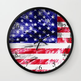 American Flag Extrude Wall Clock