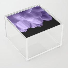 Ultra violet purple flower petals black Acrylic Box