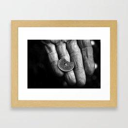 Dime Framed Art Print