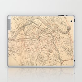 Vintage Map of Lowell MA (1904) Laptop & iPad Skin