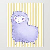 alpaca Canvas Prints featuring Alpaca by Nurt