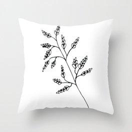 Branch White Throw Pillow