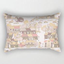 Cashel of the Kings Hand Drawn Art Rectangular Pillow