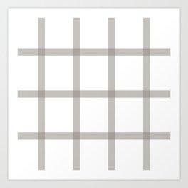 Brown checkered art Art Print