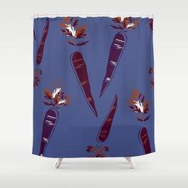 Mauve Carrot Print Shower Curtain