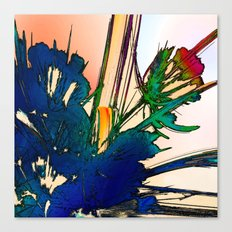 Flower in Window Canvas Print