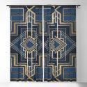 Art Deco Square Mondays In Blue by henrikbakmann