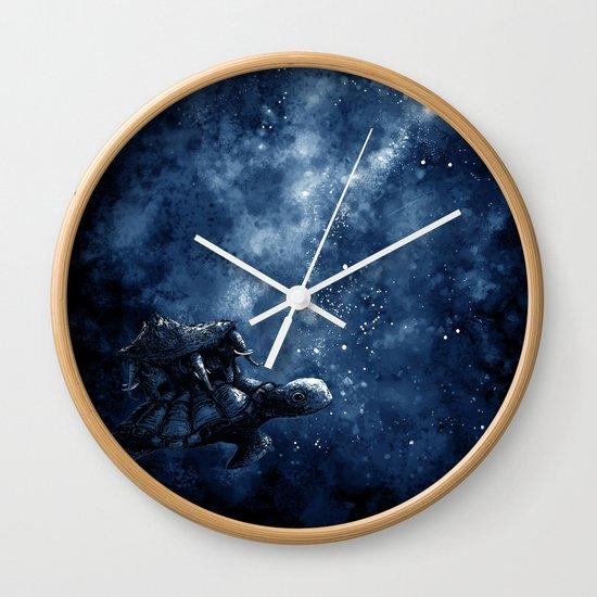 Cosmic Turtle Wall Clock