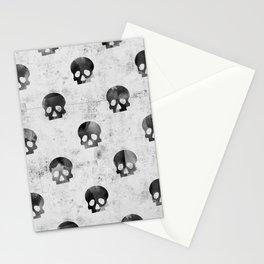 Grunge Skulls Pattern Stationery Cards