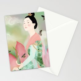guan yin, goddess of mercy Stationery Cards