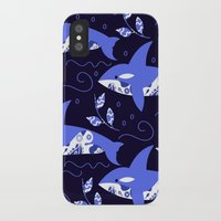 killer whale iPhone & iPod Cases featuring Killer whale pattern by luizaPatterns