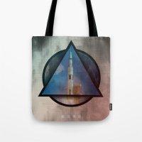 apollo Tote Bags featuring Apollo by Paul Conrad