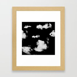 black & white clouds #1 Framed Art Print