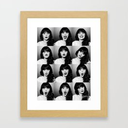 Zooey Deschanel Framed Art Print