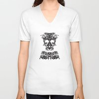 ghost V-neck T-shirts featuring Ghost by kartalpaf