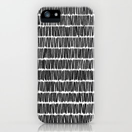 Infinite Lines Pattern - Black iPhone Case