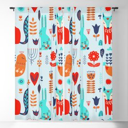 forest cute animals Blackout Curtain