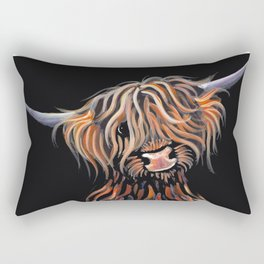Scottish Highland Cow ' WEE MAC ' by Shirley MacArthur Rectangular Pillow