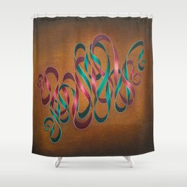Entwining Ribbons Shower Curtain