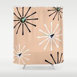 Fifties Kitchen Peach Pattern Shower Curtain
