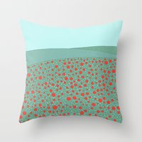 poppies Throw Pillows featuring Poppies by Anita Ivancenko