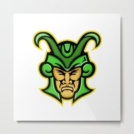 Loki Norse God Mascot Metal Print